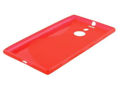 Nokia Lumia 1520 Wave Case - Frosted Red/Red