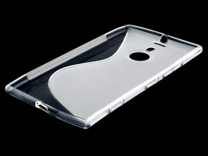 Nokia Lumia 1520 Wave Case - Frosted Clear/Clear