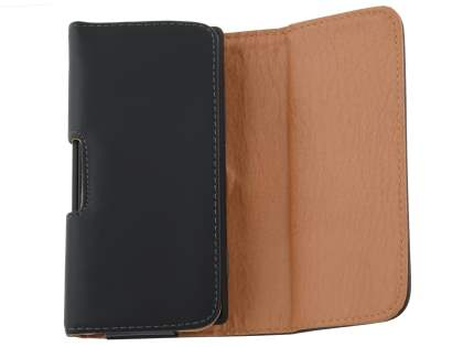 Smooth Synthetic Leather Belt Pouch for HTC Desire 300