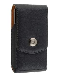 Textured Synthetic Leather Vertical Belt Pouch for HTC - Belt Pouch