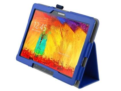 Synthetic Leather Flip Case with Fold-Back Stand for Samsung Galaxy Note 10.1 (2014 Edition) - Dark Blue