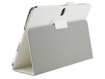 Synthetic Leather Flip Case with Fold-Back Stand for Samsung Galaxy Note 10.1 (2014 Edition) - Pearl White