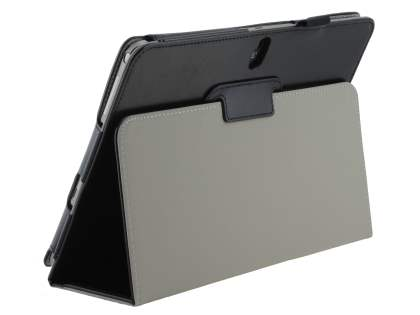 Samsung Galaxy Note 10.1 (2014 Edition) Synthetic Leather Flip Case with Fold-Back Stand - Classic Black