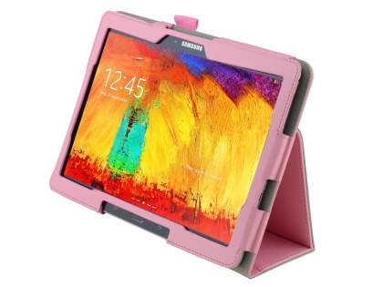 Synthetic Leather Flip Case with Fold-Back Stand for Samsung Galaxy Note 10.1 (2014 Edition) - Baby Pink Leather Flip Case