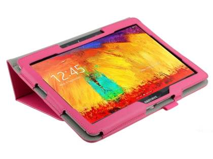 Synthetic Leather Flip Case with Fold-Back Stand for Samsung Galaxy Note 10.1 (2014 Edition) - Pink