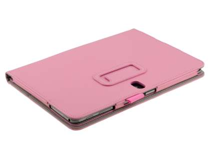 Samsung Galaxy Note 10.1 (2014 Edition) Synthetic Leather Flip Case with Fold-Back Stand - Baby Pink