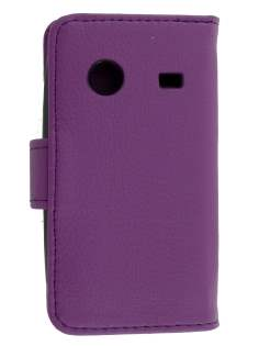 Synthetic Leather Wallet Case for ZTE T790 Telstra Pulse - Purple Leather Wallet Case