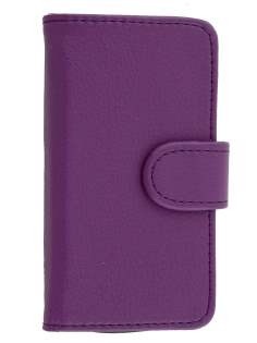 ZTE T790 Telstra Pulse Synthetic Leather Wallet Case - Purple