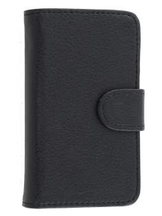 Huawei Ascend Y201 Pro Synthetic Leather Wallet Case - Classic Black