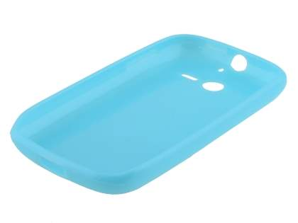 Huawei Ascend Y201 Pro Frosted Colour TPU Gel Case - Sky Blue