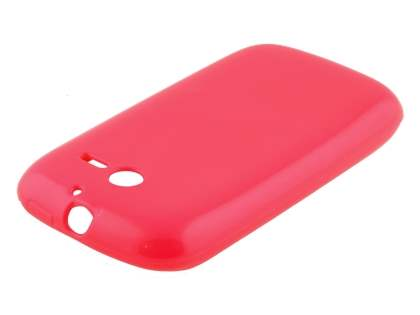 Frosted Colour TPU Gel Case for Huawei Ascend Y201 Pro - Pink