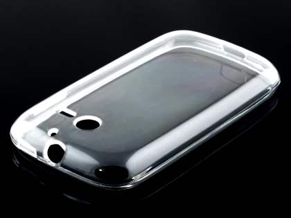Frosted Colour TPU Gel Case for Huawei Ascend Y201 Pro - Clear Soft Cover