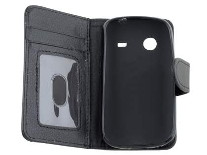 ZTE T790 Telstra Pulse Synthetic Leather Wallet Case - Classic Black