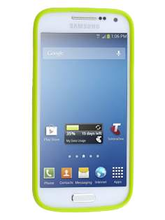 Colour TPU Gel Case for Samsung I9195T Galaxy S4 mini - Lime Green