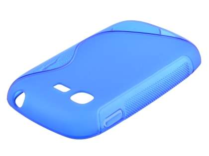 Wave Case for Samsung Galaxy Pocket Neo S5310 - Frosted Blue/Blue Soft Cover