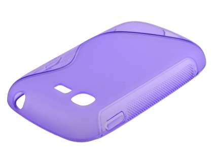 Wave Case for Samsung Galaxy Pocket Neo S5310 - Frosted Purple/Purple Soft Cover