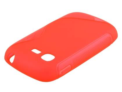 Wave Case for Samsung Galaxy Pocket Neo S5310 - Frosted Red/Red
