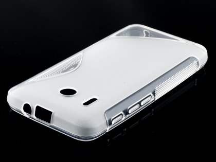 Huawei Ascend Y320 Wave Case - Frosted Clear/Clear