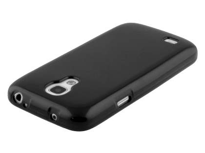 Colour TPU Gel Case for Samsung I9195T Galaxy S4 mini - Classic Black