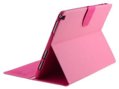 Mercury Colour Fancy Diary Case with Stand for Samsung Galaxy Note 10.1 (2014 Edition) - Pink/Hot Pink