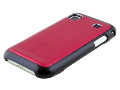 Samsung Galaxy S Brushed Aluminium Case plus Screen Protector - Burgundy Red