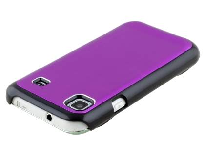 Samsung Galaxy S Brushed Aluminium Case plus Screen Protector - Grape Purple