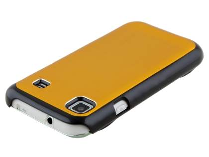 Samsung Galaxy S Brushed Aluminium Case plus Screen Protector - Gold