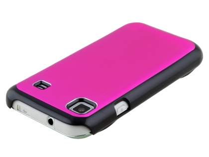 Samsung Galaxy S Brushed Aluminium Case plus Screen Protector - Hot Pink