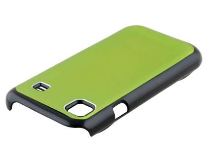 Brushed Aluminium Case plus Screen Protector for Samsung Galaxy S - Lime Green