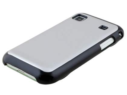 Brushed Aluminium Case plus Screen Protector for Samsung Galaxy S - Silver