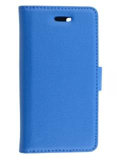 Synthetic Leather Wallet Case with Stand for Sony Xperia M - Blue Leather Wallet Case