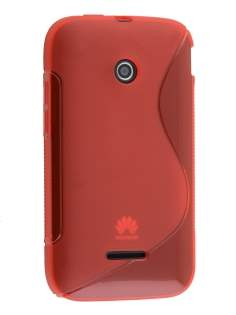 Wave Case for Huawei Ascend Y210 - Frosted Red/Red