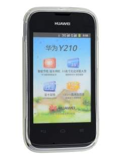 Huawei Ascend Y210 Wave Case - Frosted Clear/Clear