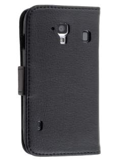 Synthetic Leather Wallet Case for ZTE Telstra Easy Touch 4G - Classic Black