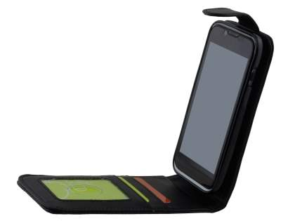 ZTE Telstra Easy Touch 4G Synthetic Leather Flip Case - Classic Black