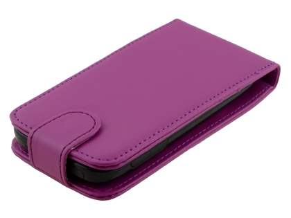 ZTE Telstra Easy Touch 4G Synthetic Leather Flip Case - Purple
