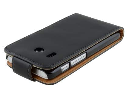 Huawei Ascend Y320 Synthetic Leather Flip Case - Black