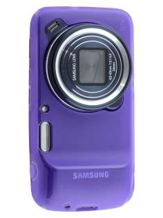 Frosted TPU Case for Samsung Galaxy S4 zoom - Frosted Purple