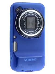 Frosted TPU Case for Samsung Galaxy S4 zoom - Frosted Blue Soft Cover