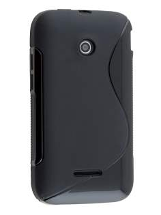Huawei Ascend Y210 Wave Case - Frosted Black/Black
