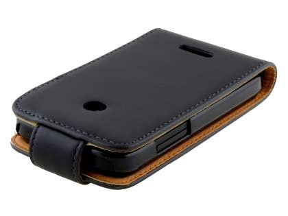 Huawei Ascend Y210 Synthetic Leather Flip Case - Black