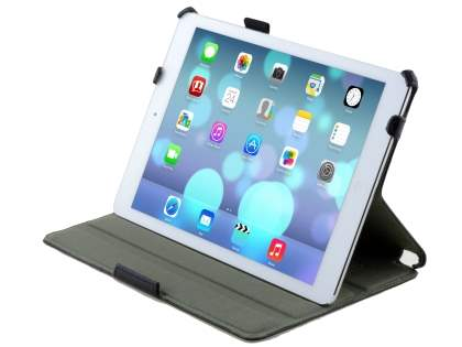 Premium Slim Synthetic Leather Smart Case with Stand for iPad Air 1st Gen - Classic Black