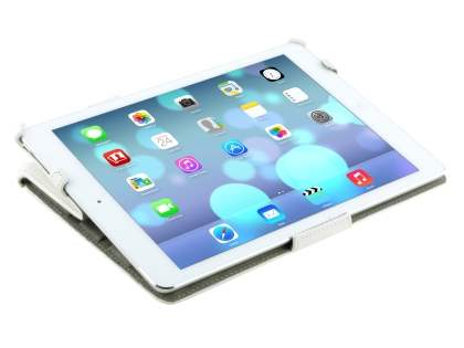 iPad Air 1st Gen Premium Slim Synthetic Leather Smart Case with Stand - Pearl White