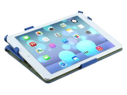iPad Air 1st Gen Premium Slim Synthetic Leather Smart Case with Stand - Blue
