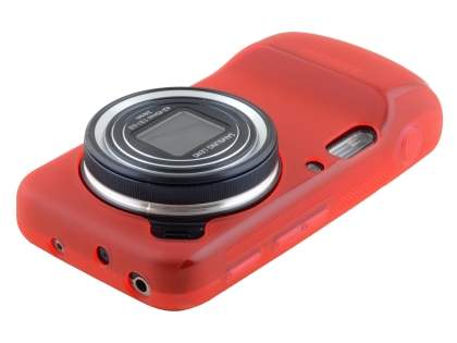 Samsung Galaxy S4 zoom Frosted TPU Case - Frosted Red
