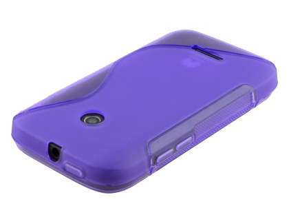 Wave Case for Huawei Ascend Y210 - Frosted Purple/Purple