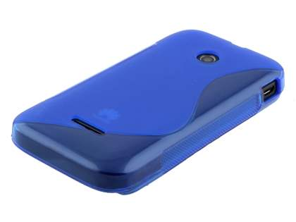 Huawei Ascend Y210 Wave Case - Frosted Blue/Blue