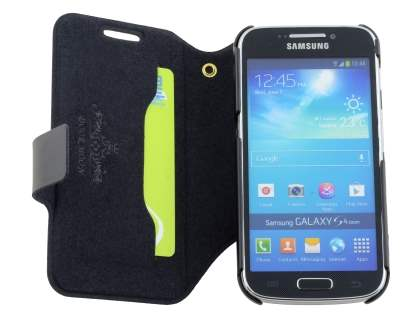 Slim Genuine Leather Case for Samsung Galaxy S4 zoom - Classic Black