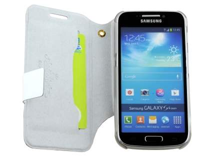 Slim Genuine Leather Case for Samsung Galaxy S4 zoom - White