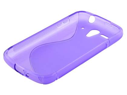 Huawei Ascend G300 Wave Case - Frosted Purple/Purple